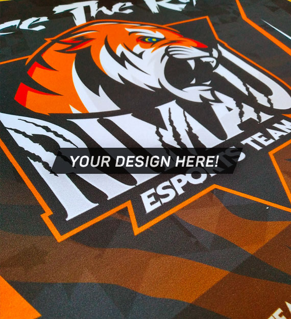 100% personalized, fully printed E-sport mousepad from Gamer Clinic